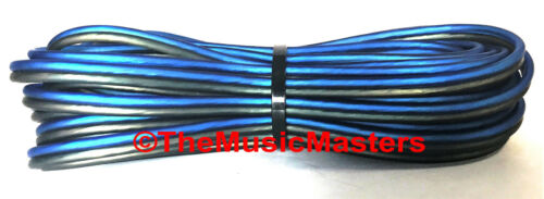 14 Gauge 15/' ft SPEAKER WIRE Blue Black Premium HQ Car Audio Home Stereo Cable