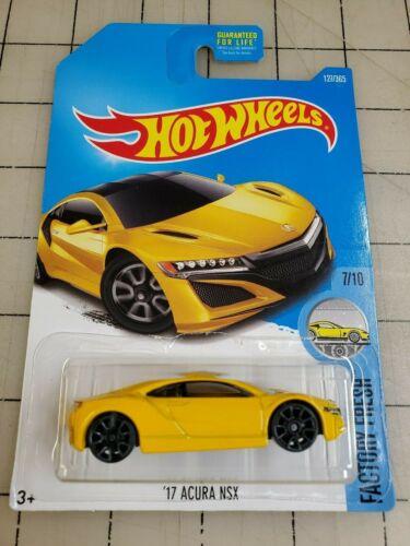 HOT WHEELS 2016 /'17 Acura NSX Yellow HW Factory Fresh 7//10