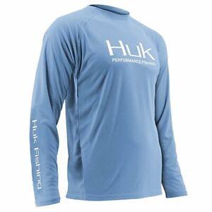 HUK PURSUIT VENTED LONG SLEEVE FISHING SHIRT CAROLINA BLUE SEVERAL SIZES