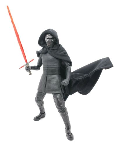 Black Wire Hooded Cape for Bandai SHF Star Wars Kylo Ren No Figure
