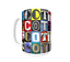 Details about  /SCOTT Coffee Mug Cup featuring the name in photos of sign letters