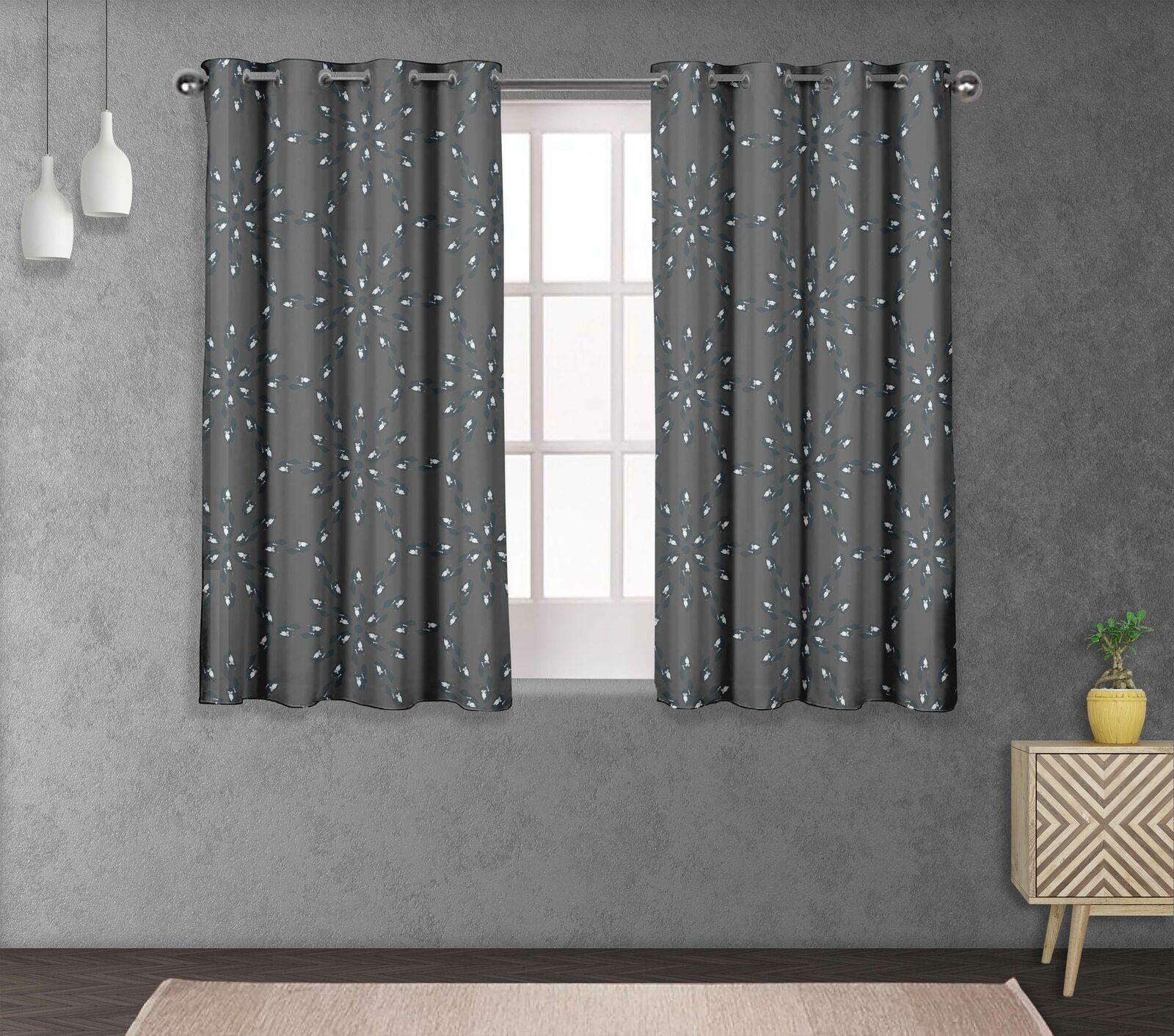 S4sassy Cat Living Room Eyelet Window short & long Curtain -AN-1E
