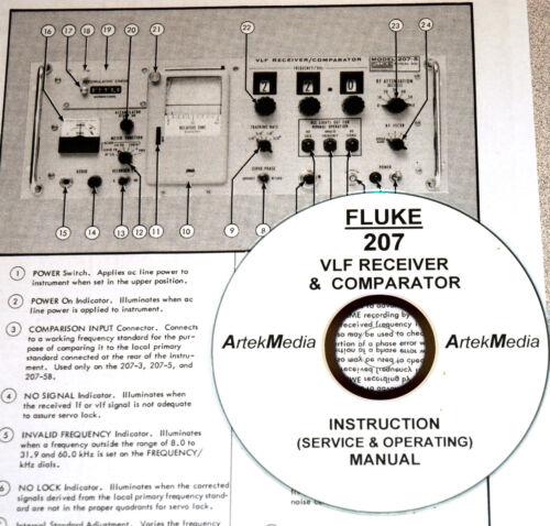 Radio Communication Fluke 207 VLF Receiver Operating & Service ...
