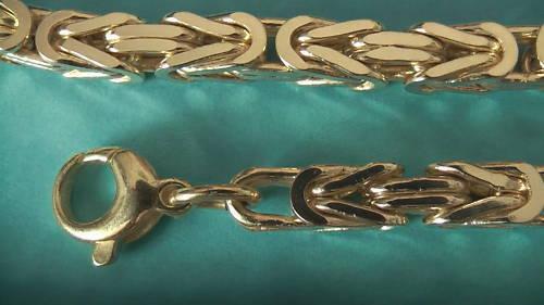 CATENA CATENA CATENA REALE 5x5mm larghezza oro-doppio 10 000 Millieme timbrato 45cm fino a 283882