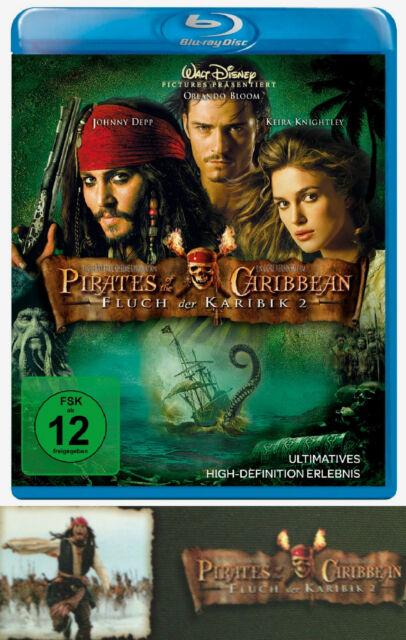 Bluray Fluch der Karibik Teil 2 Pirates of the Caribbean Piraten Kinofilm Film N