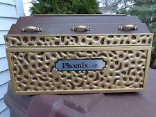 """Vintage Doric """"Phoenix"""" Miniature Mortuary Funeral Grave Casket Burial Vault"""