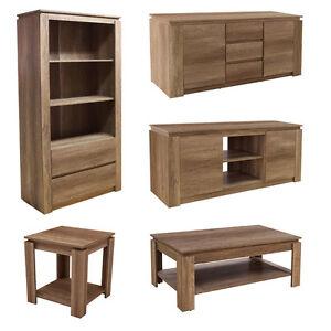 dark wood 3d textured finish oak effect living room furniture set