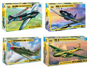 ZVEZDA-USA-Soviet-German-Aircrafts-WWII-1939-45-Plastic-Model-Kits-1-72-Unpainte