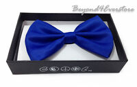 Men's Formal Wear Clothing Accessories Solid Royal Blue Bow Tie Wedding Banquet