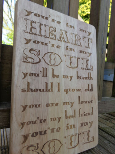 Engraved Wooden Plaque You/'re In My Heart You/'re In My Soul Rod Stewart Lyrics