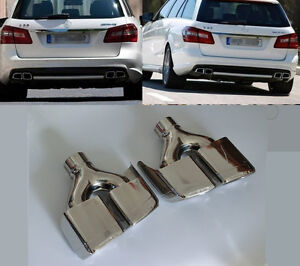 Rear Exhaust Tips Muffler Pipe for Mercedes Benz W212 W204 W207 W221 W218 AMG