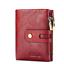 Les Femmes en Cuir Véritable Vachette Portefeuille Trifold Carte ID titulaire double Zipper Sac à main