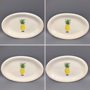 x4-Rae-Dunn-Oval-Appetizer-Plate-Set-Pineapple-Pina-Colada-Summer-Party-Snack