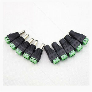 4X-Male-Female-2-1x5-5mm-DC-Power-Plug-Jack-Adapter-Wire-Connector-for-CCTV-VN