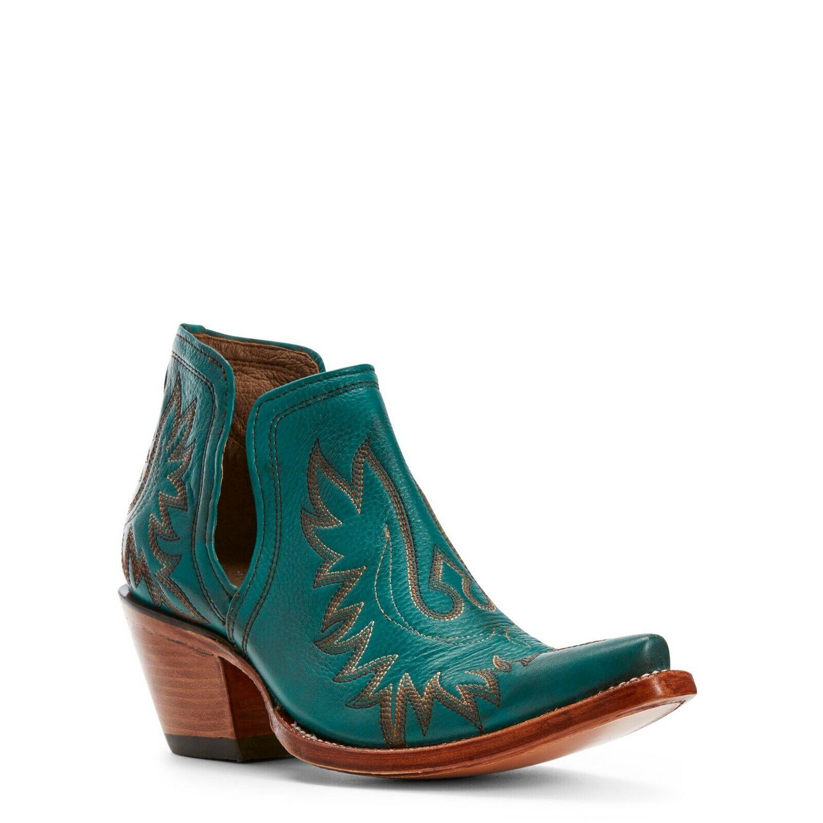 Ariat ® Damas Dixon Ágata verde botas al Tobillo occidental 10027280