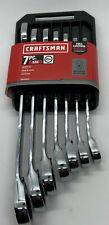 Craftsman Cmmt87024 Sae 12 Pt 7pc Wrench Set Reversible Ratcheting Eb35