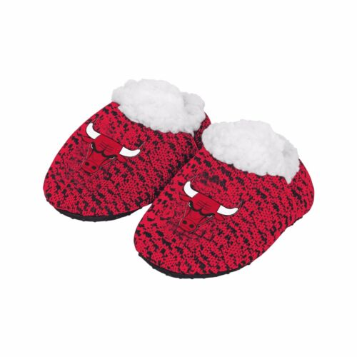 Chicago Bulls POLY KNIT Infant Newborn Baby Booties Slippers NBA New Shower Gift