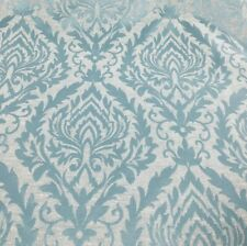 Stunning! BR004-180//0KL6H4 Blue damask patterned curtain fabric//material