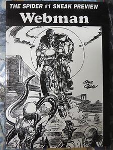 Details about The Spider #1 Sneak Preview Webman Chuck Dixon Greg Luzniak  Gene Colan cover