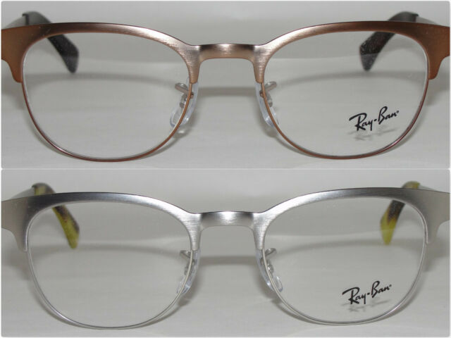 a79ef06266 Ray Ban Eyeglasses Rx6317 2835 Matte Silver Round Metal Clubmaster Frame  49mm for sale online