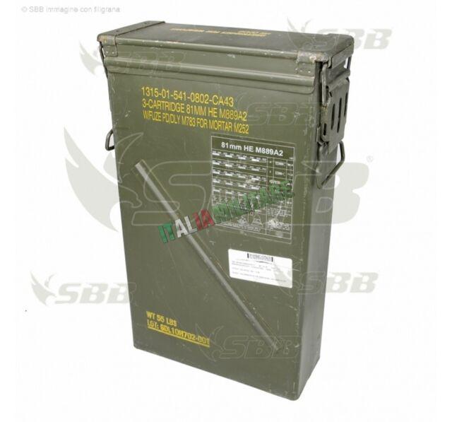 Box Scatola Munizioni Militare NATO in Metallo ORIGINALE mod Tipo 6B
