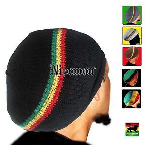 52306df26 Rasta Cap Dread Tam Hats Beret Bonet Caps Africa Crown Reggae Marley ...