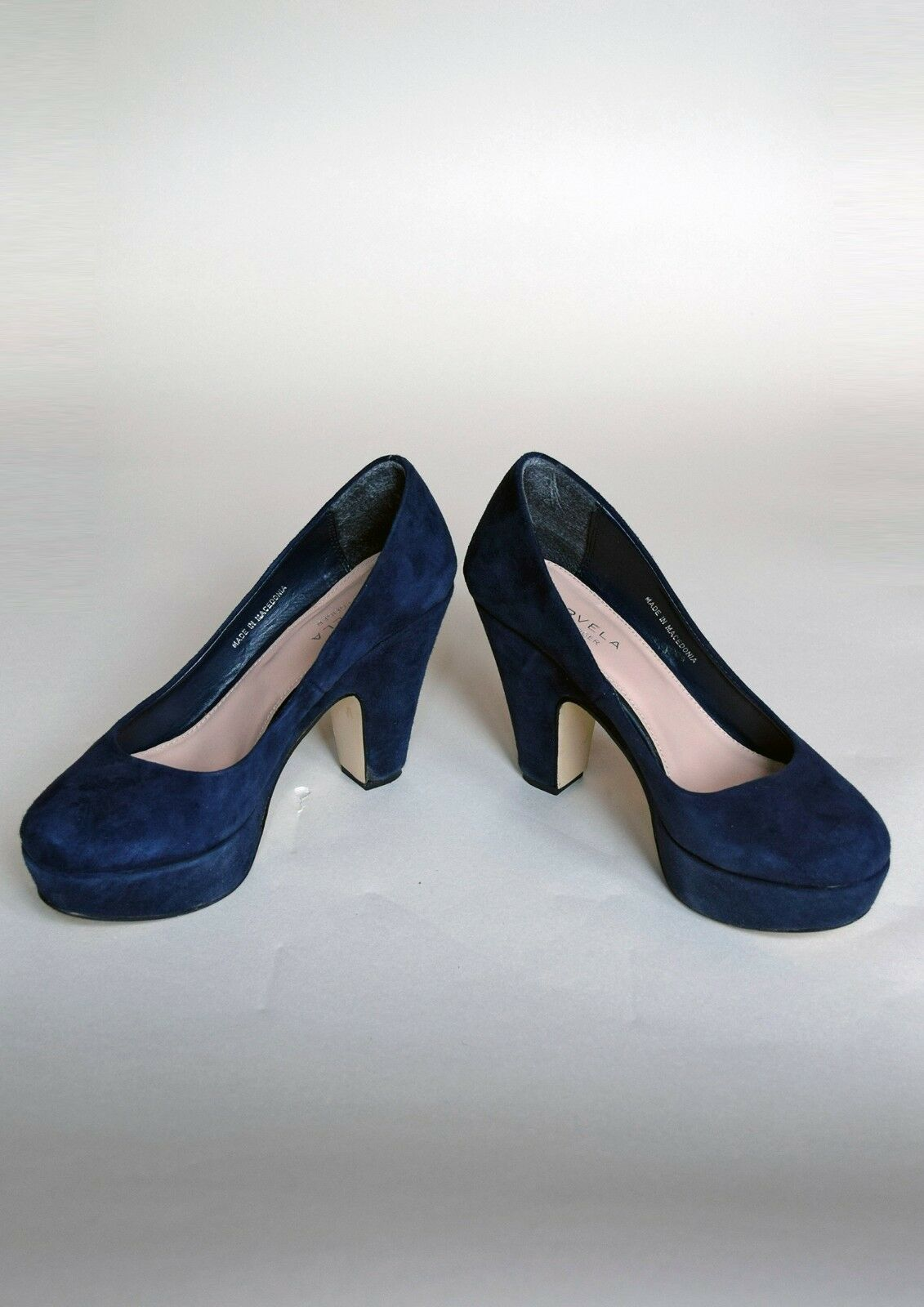 Carvela Kurt Geiger navy suede or shoes, size UK 5 or suede 38 29e013