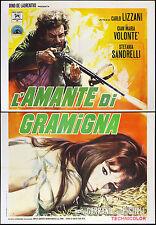 CINEMA-manifesto L'AMANTE DI GRAMIGNA volonté, sandrelli, LIZZANI