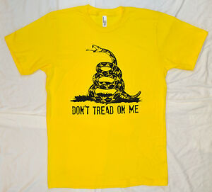 Don/'t Tread on Me White Tank Top T Shirt Tea Party Gadsen Flag American Apparel
