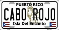 Cabo Rojo Metal Novelty License Plate
