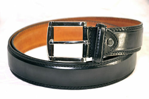 MEN/'S CASUAL DRESS JEANS GENUINE LEATHER BELT
