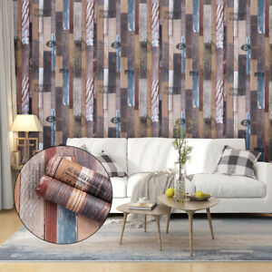 Home Cal Waterproof Self-Adhesive Paper Wallpaper,Personality Wood,1.97ⅹ16.4ft