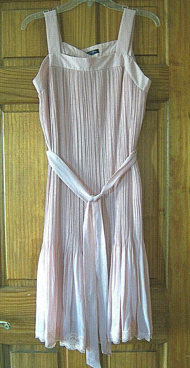 Women's fancy chiffon dress size L dusty rose pink - image 2
