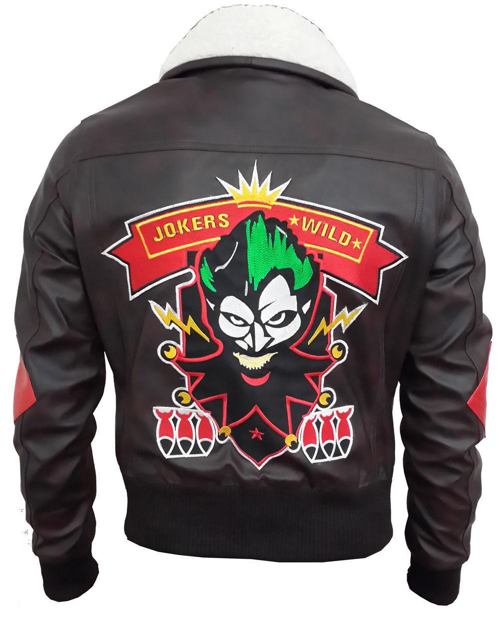 Nouveau Femme Harley Quinn Suicide Squad Tissu Dur Veste Simili Cuir
