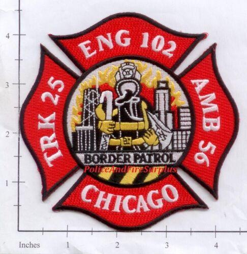 Illinois Chicago Engine 102 Truck 25 Ambulance 56 IL Fire Dept Patch