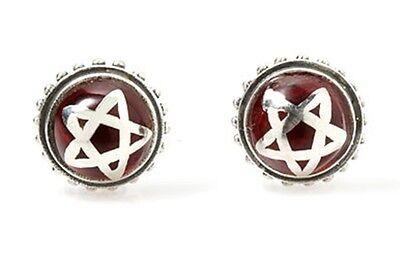Star Pentagram Stud Earrings .925 Sterling Silver