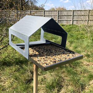 Bird Feeder Wild Seed Mounted House Outdoor Garden Home Robin Squirrel Nut Metal