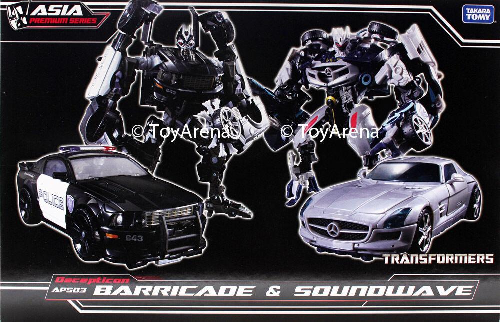 Transformers Dark of the Moon APS-03  Barricade & Soundwave avec Mini Boombox Exclusif USA  vente d'usine en ligne discount