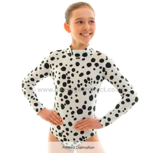 Children Dance Gear Printed Zoe Long Sleeved Leotard