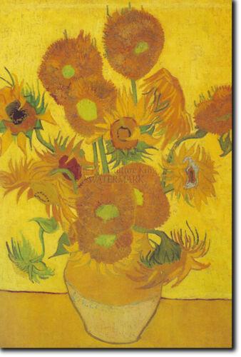 Painting Reproduction Sunflowers Vincent Van Gogh Art Print Poster