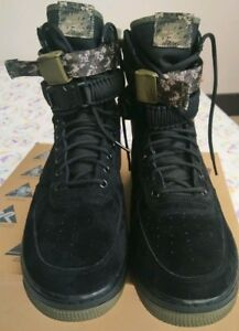 2801f99541 New Nike SF Air Force 1 AF1 Olive Camo Green High Boot Shoe 864024 ...