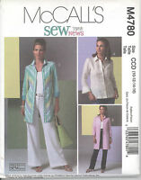 Mccall's 4780 Misses' Shirts In Two Lengths Sewing Pattern