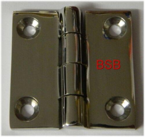 polierter Edelstahl V4A 1 St Feinguss Scharnier 50x50mm