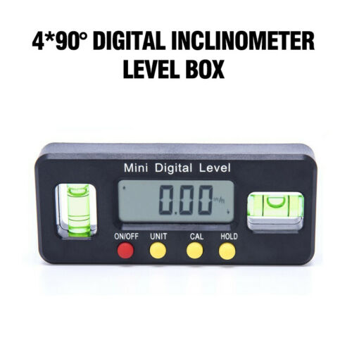 4*90° Magnet Inclinometer Level Box Protractor Angle Finder Bevel Gauge Digital