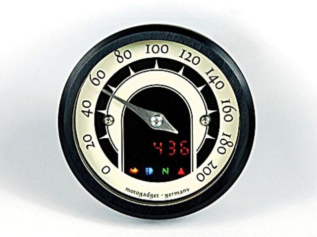Motogadget Motoscope Minuscule Speedster Moto Compte-Tours 49mm Boîtier Noir