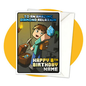 Steve-Treasure-PERSONALISED-BIRTHDAY-CARD-minecraft-themed-gamer-personalized