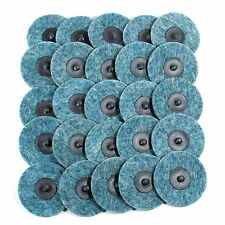 "25pc- 3"" Fine Blue Roloc Quick Change Surface Conditioning Prep Sanding Discs"