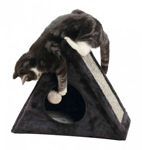 TRIXIE-LERA-FOLD-AND-STORE-SOFT-CUDDLY-CAT-AND-KITTEN-CAVE-BED-SCRATCER-43165