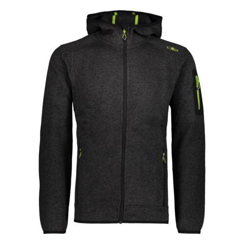 Cmp Tricot Veste Veste on Jacket Fix Hood Noir Respirant chiné