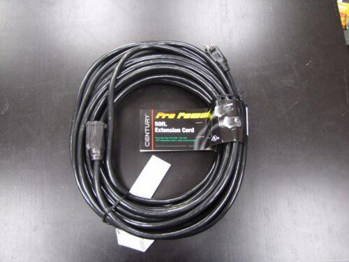 Black 50FT 12//3 SJTW PRO POWER EXTENSION CORD 300V